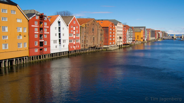 View from Gamle Bybro, Trondheim