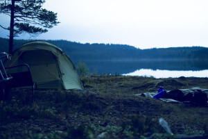 Camping at Skjellbreia