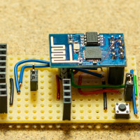 ESP8266 (ESP-01) dev board side-view