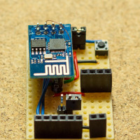 ESP8266 (ESP-01) dev board front-view