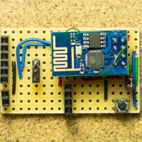 ESP8266 (ESP-01) dev board top-view