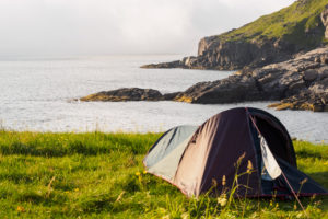 Camping on Horseid Beach